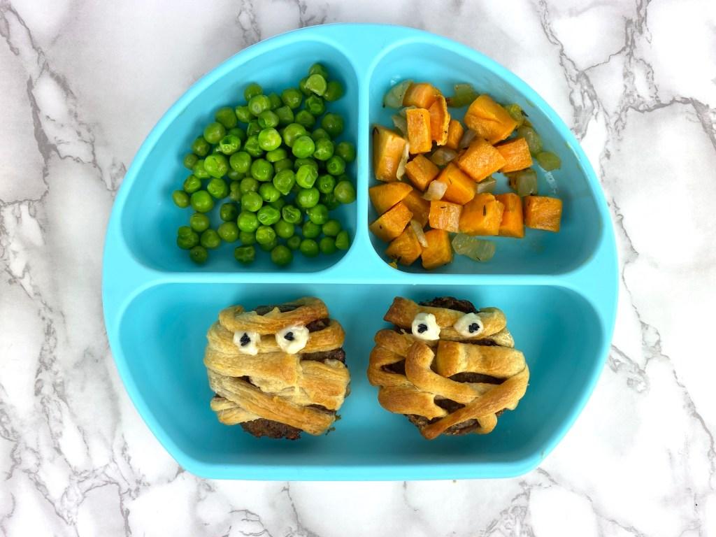 fun toddler food ideas halloween mummy sausages