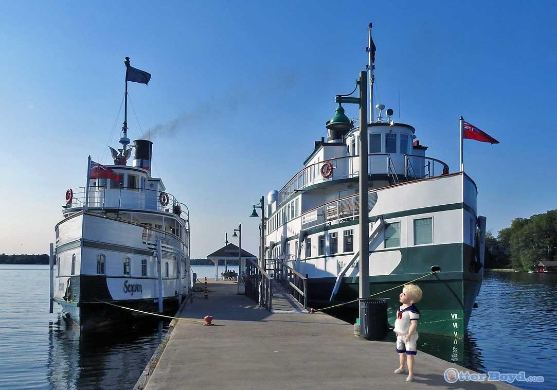steamships on Muskoka Lake Gravenhurst Ontario