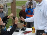 Bird banding drew interested observers