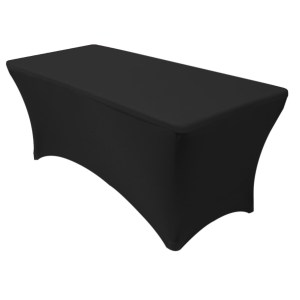Spandex tablecloth black to fit 6ft table