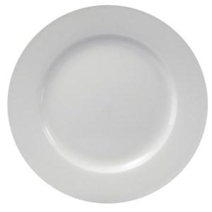 White China dinner plate