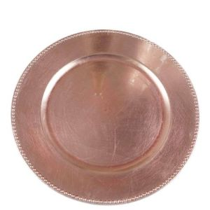 13 inch Round Rose Gold Charger