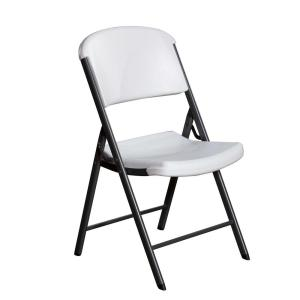 white granite folding chairs