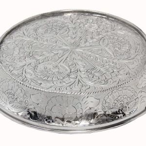 Glittering Silver Wedding Cake Stand Tapered 14 inch Round