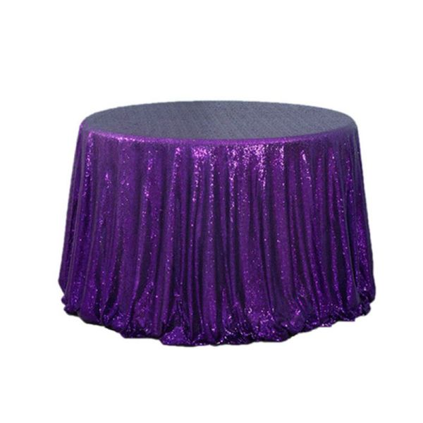 """120"""" Round Sequin Table Cloth"""