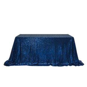"90x132"" Sequin Rectangular Table Cloth"