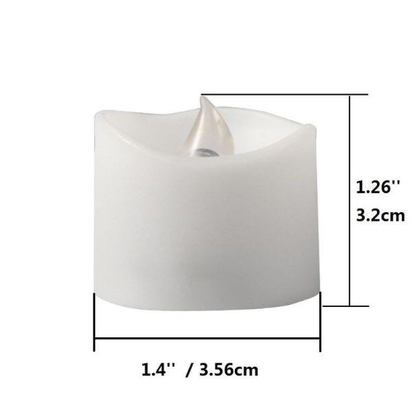 1.4'' Realistic & bright Flickering Flameless LED Tea Light