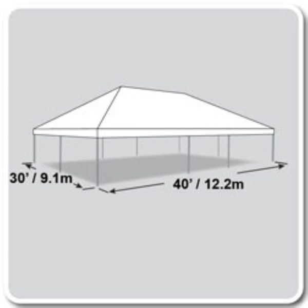 30x40 Tent diagram