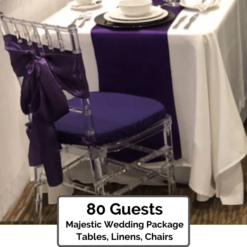 Majestic Wedding Packages Orlando for 80 Guests