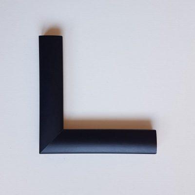 Smooth black cushion shaped