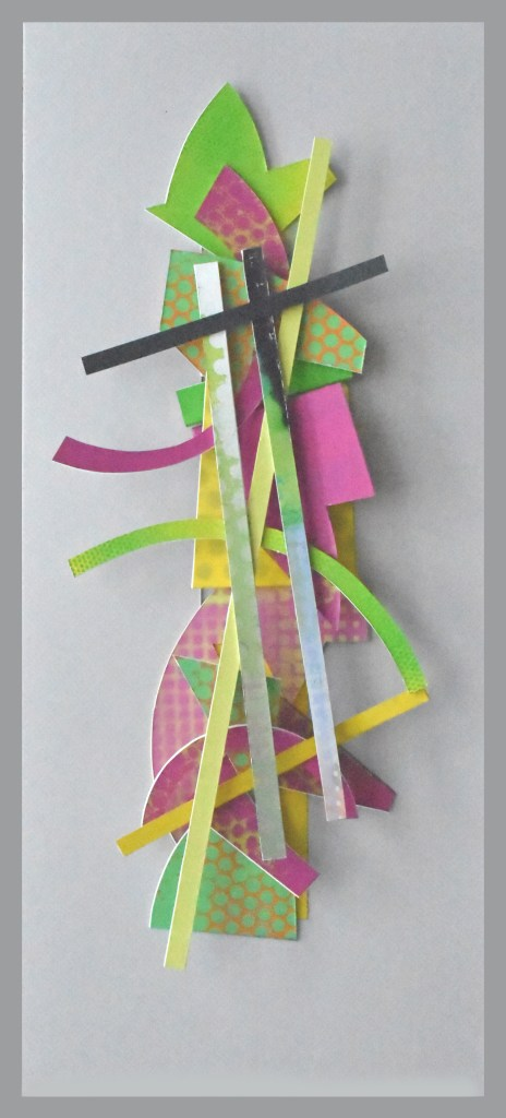 'Totem 21' 63.5x29.5x7 cm. cpainted surfaces, cut card