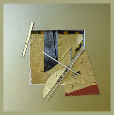 reliquary 1. 23x23x7 cm. gold leaf, painted surfaces cut card