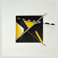 reliquary 13. 23x23x7 cm. printed surfaces, cut card.