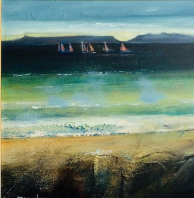 Arisaig Regatta Oil on Canvas 40cm x 40cm