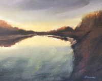 Evening River Nith Oil on Canvas 60cm x 45cm