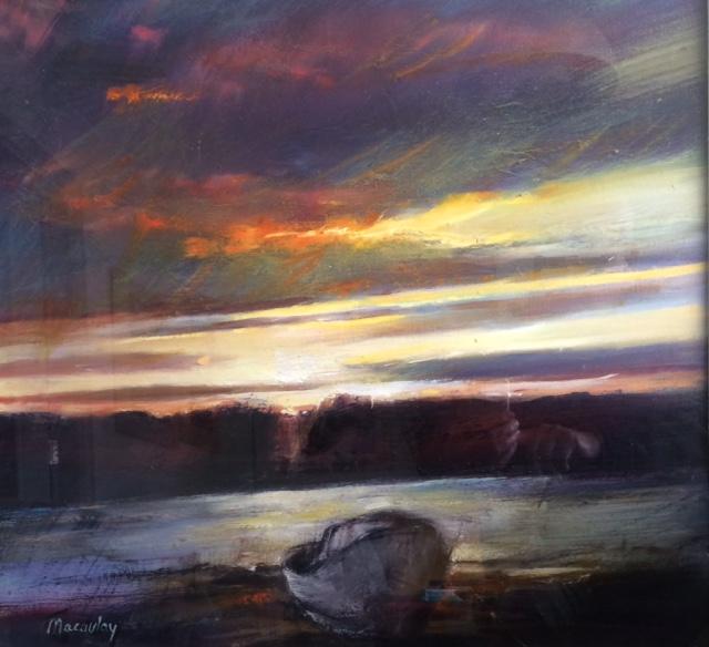Kippford Dramatic Sky Oil on Canvas 61 x 56