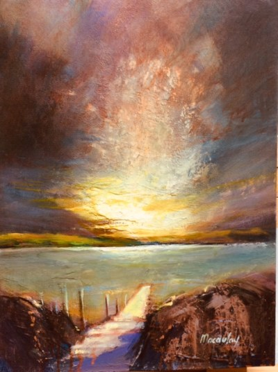 Sunrise Gigha Oil on Canvas 30cm x 40cm