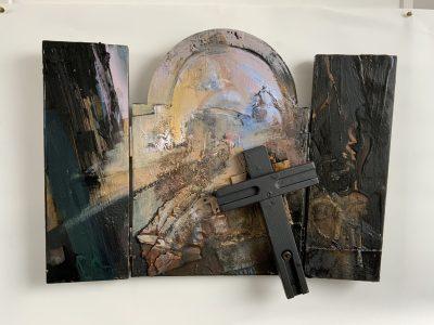 Triptych 2 60cm x 40cm triptych1 60 x 40cm 3D Mixed media