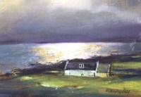 White Light Harris Oil on Canvas 24cm x 18cm