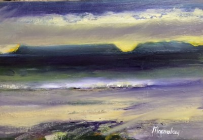 Winter beach Oil on Canvas 30cm x 20cm