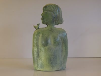 Peck on the lips - Stoneware sculpture