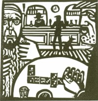 One for the road - Lino Cut