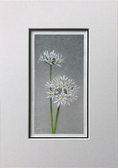 Wild Garlic linocut print