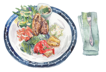 20170827 salad with croquettes Food 002