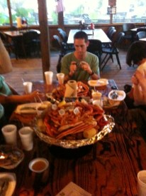 The platters at the Crab Shack
