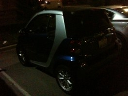Smart car in the parking lot