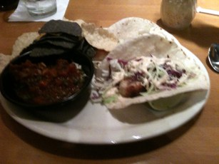 Tacos at California Pizza Kitchen
