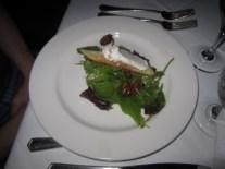 Local greens, cherries, pecans, goat cheese salad