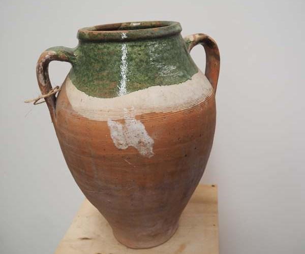 Ottoman period glazed Terracotta pot