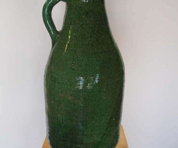 Ottoman period green glazed jar