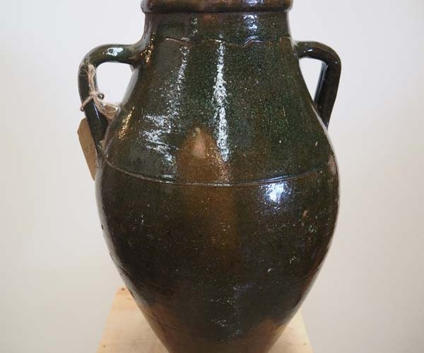 Ottoman Period Green glazed pot