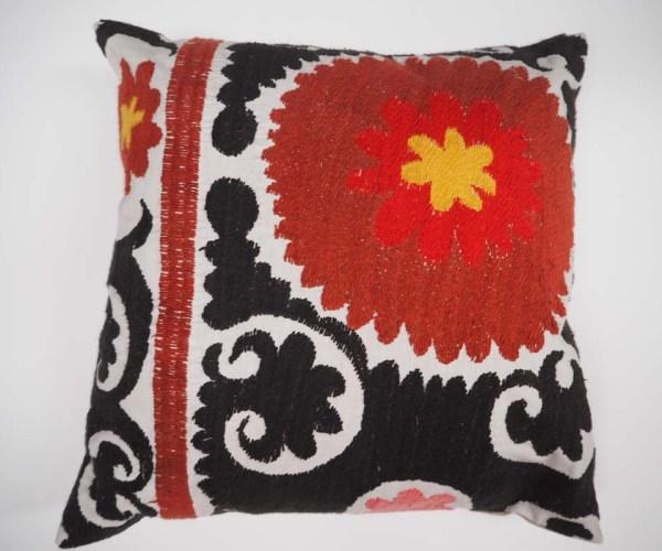 Antique Suzani fragment cushion