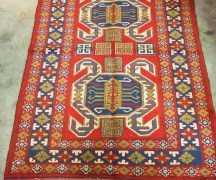 Hand knotted wool on wool Caucasian Lenkoran Talish carpet. Approximately 60 - 70 years old