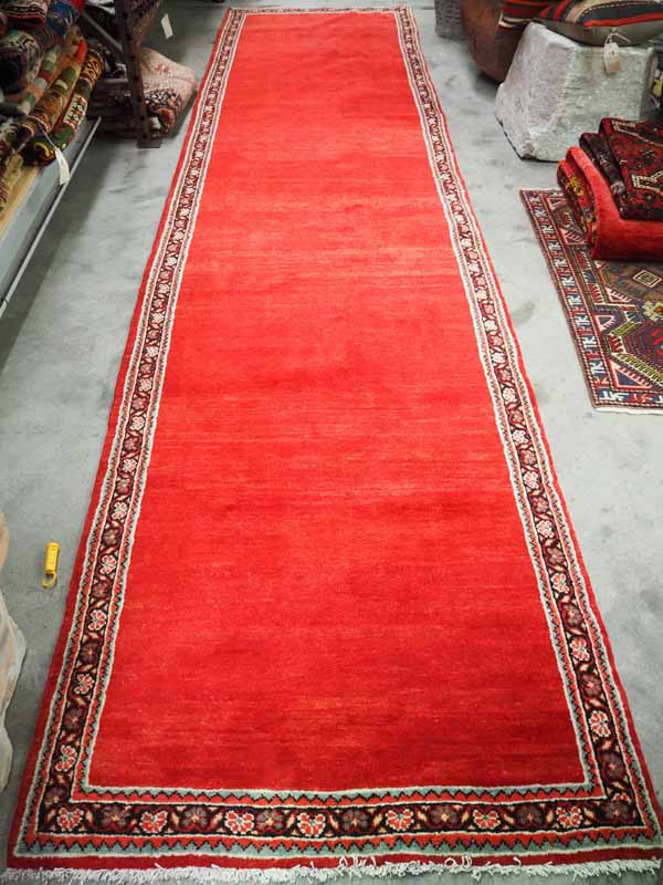 A rare one of a pair Antique Persian Malayer wool runners
