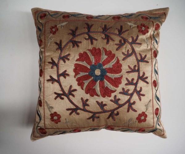 Uzbek Hand embroidered Silk Cushion