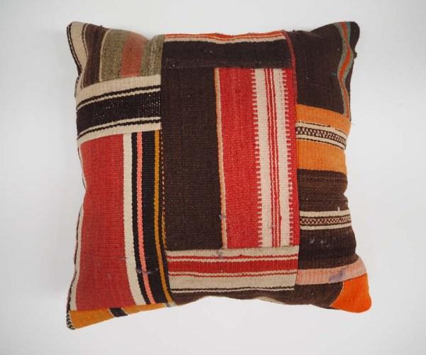 Antique Kilim Fragment Patchwork Cushion