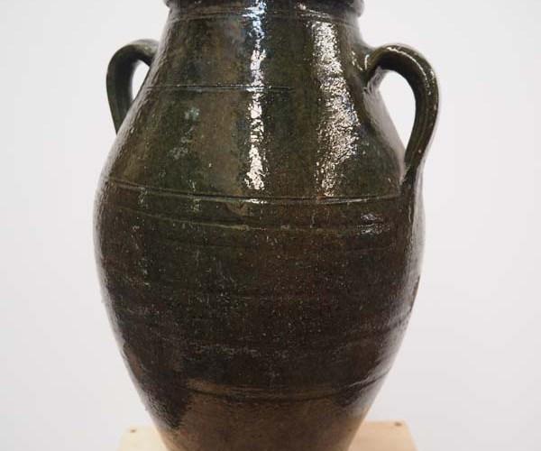 Ottoman Green glazed pot