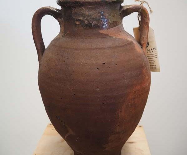 Ottoman Period green glazed pot