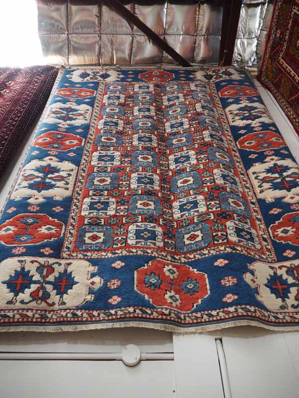 Double Knotted Turkish wool carpet from Ayvacik. Ayvacik is on the Ionian coast of Turkey