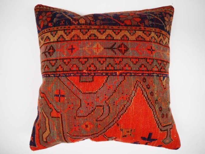 Antique Rug Fragment Cushion