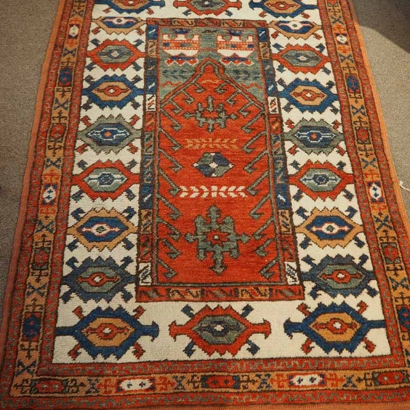 Turkish Double knotted wool on wool from Konya, Approximately 80 years old