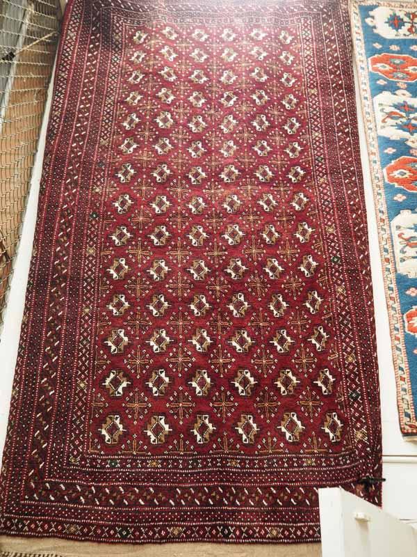 A wool on wool carpet Tekke (Tribe) Turkoman. Approximately 10 - 20 years old