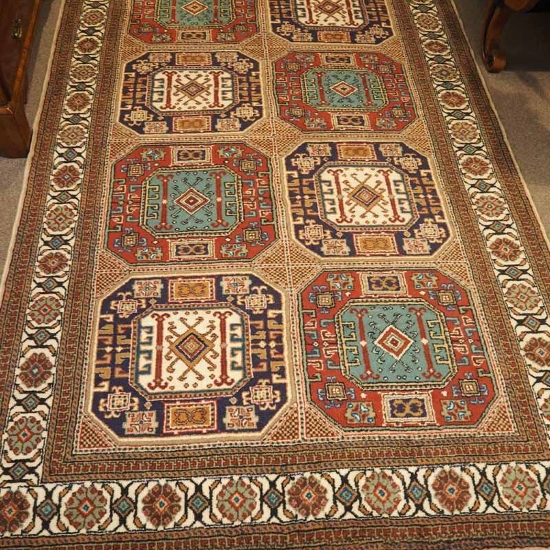 Double knotted Turkish wool carpet, Hand made Kayseri, Approximately 60 years old