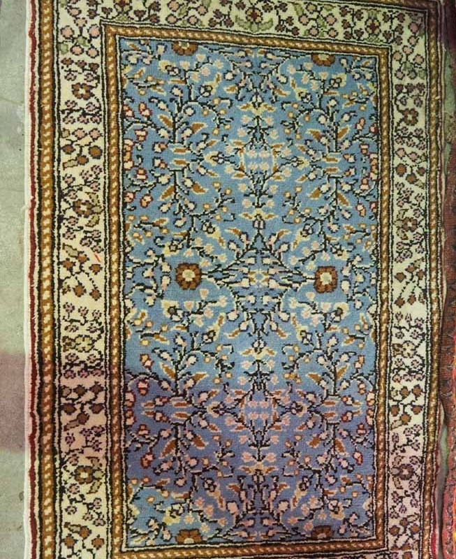 Turkish wool on cotton Kayseri rug. Approximately 30 years old