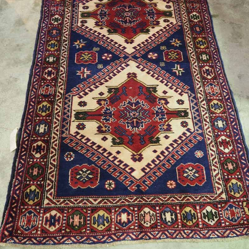 Finely Knotted wool on wool Turkish carpet from Nevshir. Approximately 90 years old