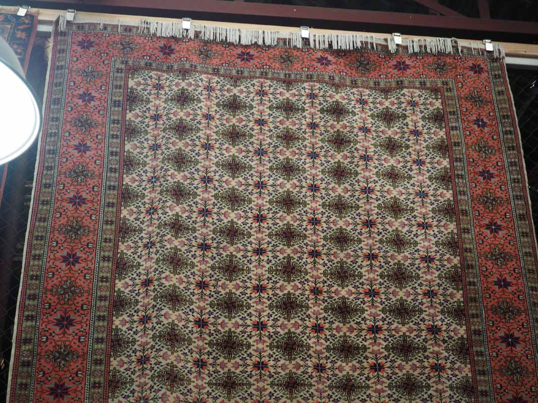 Wool on cotton double knotted Turkish Rug from Kayseri. Approximately 20 -30 years old